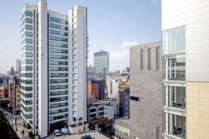 Image of Manchester skyline with offices providing jobs in Manchester